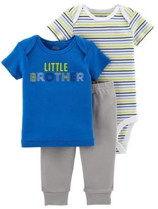 Carter's Child of Mine by Baby Boy Shirt, Bodysuit, & Pants, 3pc Outfit Set