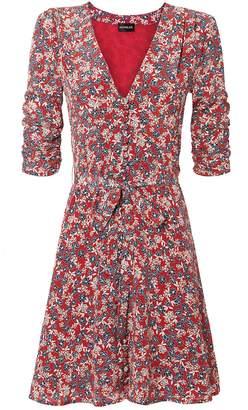 Nicholas Red Blossom Mini Dress