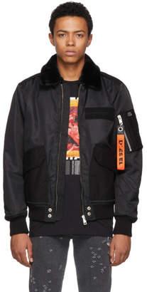 Diesel Black W-Slotkin Bomber Jacket