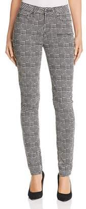 Paige Hoxton Ultra Skinny Jeans in Cream/Black Glen Check