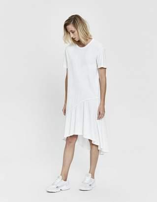 Bassike Asymmetric T-Shirt Dress