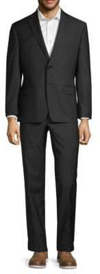 Calvin Klein Two-Piece Tonal Stripe Wool Suit