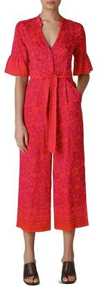 Whistles Henna-Print Cropped Jumpsuit