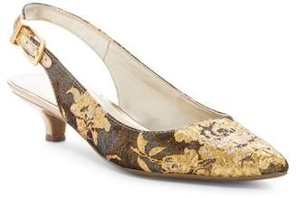 Anne Klein Expert Embroidered Slingback Pump