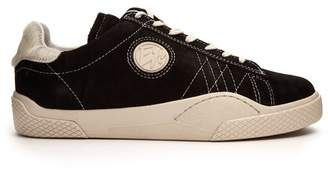 Eytys Wave Low Top Suede Trainers - Womens - Black