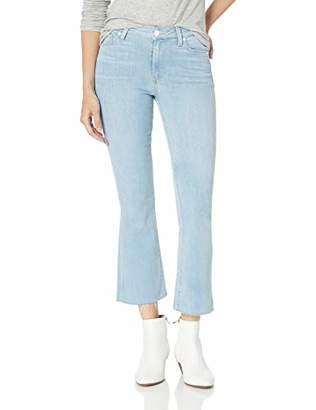 Paige Women's Colette Crop Flare Jeans W/Raw Hem