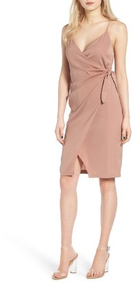 Women's Leith Satin Wrap Dress $69 thestylecure.com