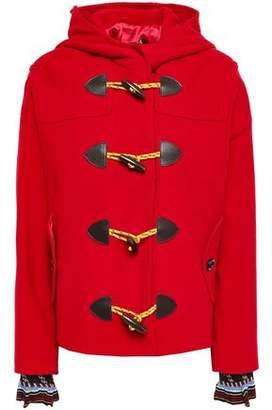 Love Moschino Wool-blend Felt Hooded Coat