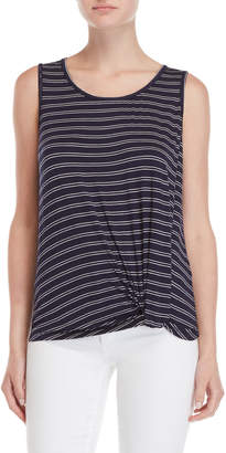 Max Studio Striped Knotted Tank