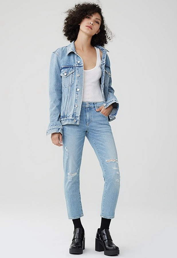 Isabel Mid-Rise Slim Straight Jean