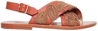 Sanchita 10mm Chain Leather Sandals