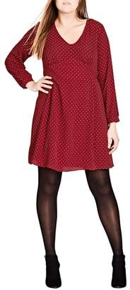 City Chic Sweet Nothing Polka Dot Dress