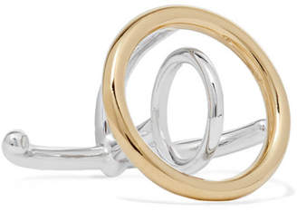 Charlotte Chesnais Saturn Silver And Gold Vermeil Ring