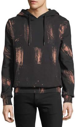 Eleven Paris Pamela Bleached-Streak Fleece Hoodie Sweatshirt