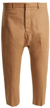 R 13 Dropped-crotch wool-blend cropped trousers