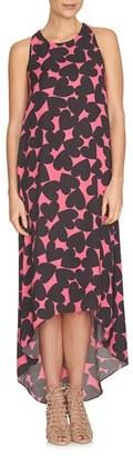 CeCe 'Hearts' Print High/Low Maxi Dress $129 thestylecure.com