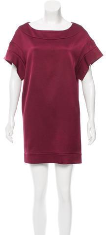 Miu MiuMiu Miu Silk Rib Knit Dress