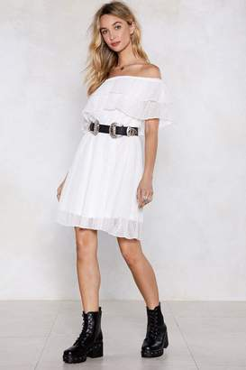 Nasty Gal The Tier and Now Off-the-Shoulder Dress