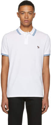 Paul Smith White Slim Fit Striped Polo