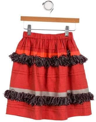 Tia Cibani Girls' Fringe-Trimmed A-Line Skirt w/ Tags