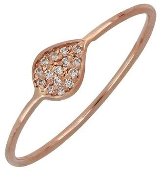 Bony Levy 18K Rose Gold Diamond Leaf Stack Ring - 0.06 ctw