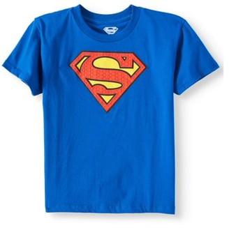 Justice League Royal Blue DC Comics Superman Logo with HD Ink Short Sleeve Tee (Little Boys & Big Boys)