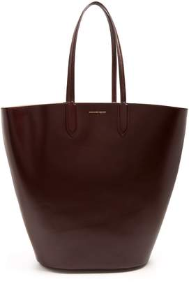 Alexander McQueen Basket large leather tote