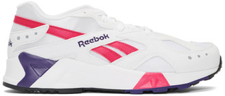 Reebok Classics White and Pink Aztrek Sneakers