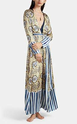 Leone WE ARE Women's Silk Charmeuse Maxi Robe
