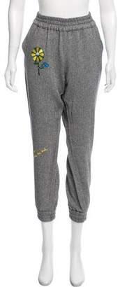 Mira Mikati Embroidered Mid-Rise Pants