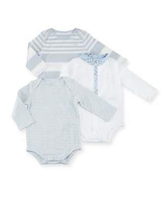 Burberry Maxina Set 1 Long-Sleeve Layette, Blue, Size Newborn-12 Months $215 thestylecure.com