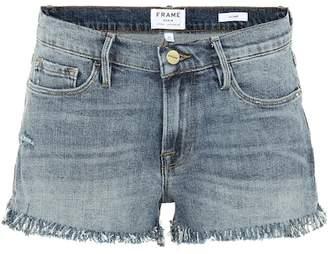Frame Le Cut Off Shredded Raw shorts