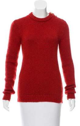 Balmain Wool-Mohair Crew Neck Sweater