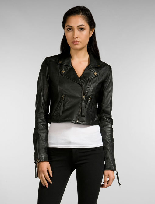 Miss Me Couture Leather Motorcycle Jacket