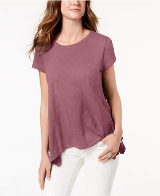Style&Co. Style & Co Handkerchief-Hem T-Shirt