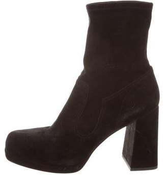 Marc Jacobs Suede Round-Toe Ankle Boots