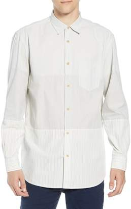 French Connection Core Peach Regular Fit Patchwork Sport Shirt
