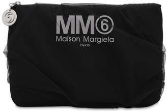 MM6 MAISON MARGIELA (エムエム6 メゾン マルジェラ) - MM6 MAISON MARGIELA ミディアム テクノ&チュール クラッチバッグ
