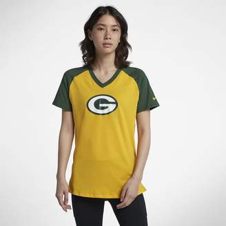 Nike V-Neck (NFL Packers) Women's Short Sleeve Top