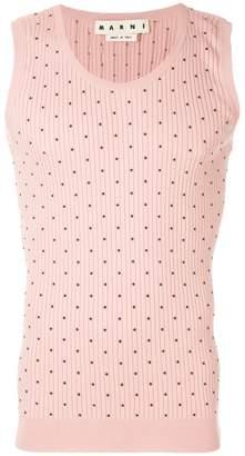 Marni geometric knitted vest