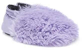 Muk Luks Girls' Baby Soft Shoes-Lavender Mary Jane Flat