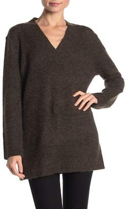 Magaschoni M BY Long Sleeve V-Neck Knit Tunic