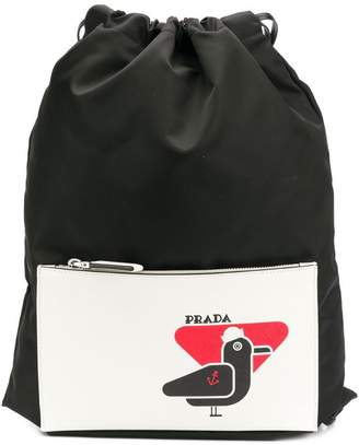 ef7aae2beb94 Prada Mens Black Backpacks - ShopStyle