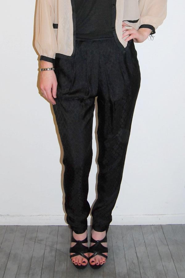 Thakoon - Black Harem Silk Trousers