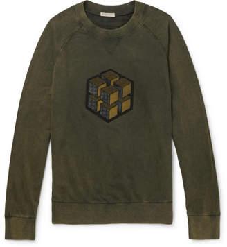 Bottega Veneta Appliquéd Loopback Cotton-Jersey Sweatshirt