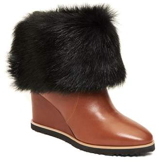 Taryn Rose Massima Genuine Shearling Wedge Boot