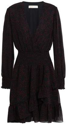 MICHAEL Michael Kors Wrap-effect Chiffon Mini Dress