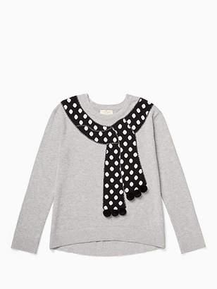 Kate Spade Girls trompe loeil sweater