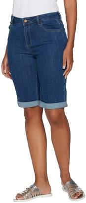 Logo By Lori Goldstein LOGO by Lori Goldstein 5-Pocket Denim Bermuda Shorts w/ Rolled Cuffs