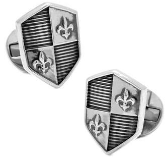 Co Ox and Bull Ox And Bull Trading Silver Cufflinks